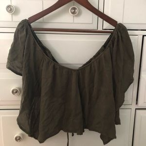 Free people flowy off the shoulder top